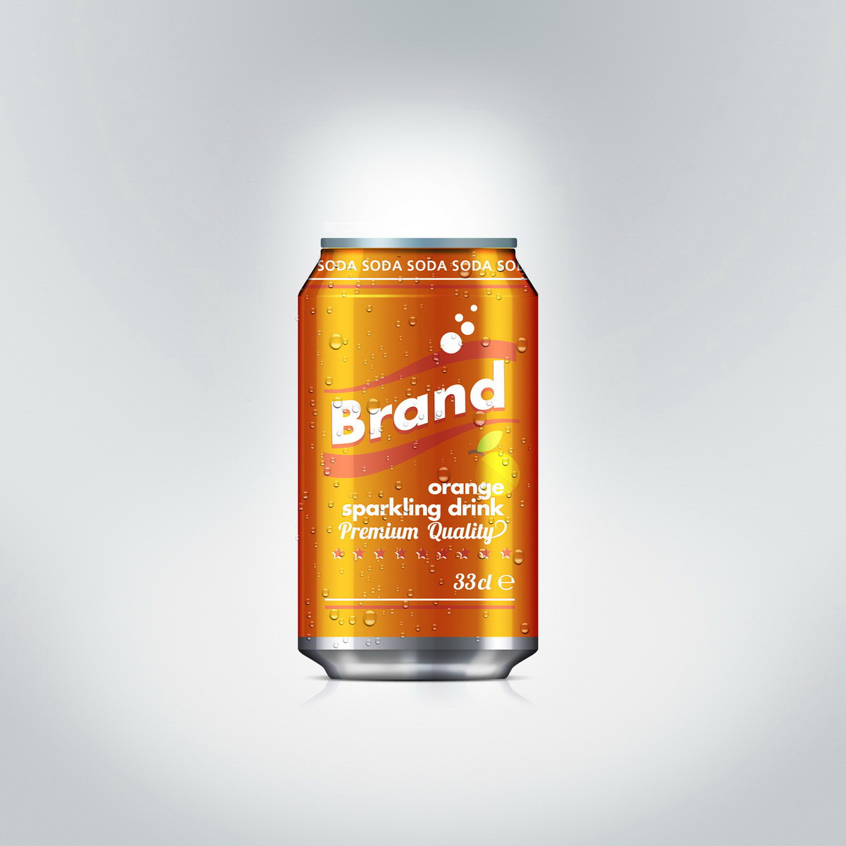 Sparkling orange drink